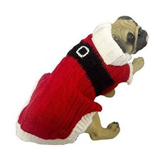 Santa Claus Knit Sweater Costume For Dogs Pooches Puppies Old Saint Nick... - $6.99