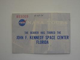 1974 NASA Tours Ticket Stub at John F. Kennedy Space Center in Florida - $6.68