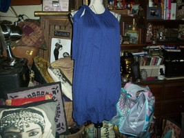 ANTHROPOLOGIE BORDEAUX Cool Cobalt Blue Dress Size P/S - $17.82