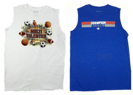 Boy's 8-18 Champion Muscle Tee Shirt Sleeveless Tank T-Shirt Sports Themed NEW
