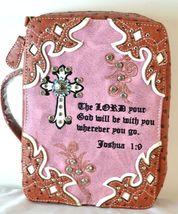 Brown Pink Joshua 1:8 Bible Verse Bible Cover - $28.99
