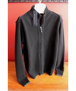NWT Daniele Blasi Wool Italian Black Charcoal Full Zip Men's Sweater M $180 - $126.00