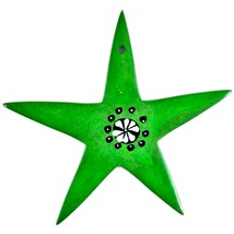 Tabaka Chigware Hand Carved Kisii Soapstone Green Star Stone Ornament image 1