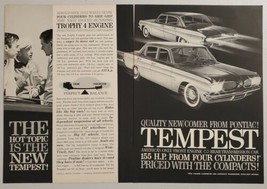 1960 Print Ad The 1961 Pontiac Tempest with Trophy 4 Engines - $14.83