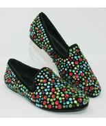 Steven Madden Size 7 Majikal Multi Colored Rainbow Rhinestone Flats Shoes - $49.87