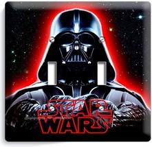 Darth Vader Red Glow Halmet Star Wars Dark Force Double Light Switch Cover Decor - $12.99