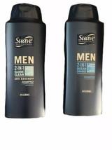 (2)Suave Men 2 In 1 Classic Clean Anti Dandruff Shampoo & Conditioner-28oz. Each - $16.40