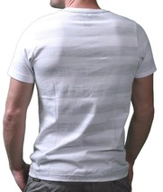 Dunkelvolk Mens Optic White Peruvian Street Art Chrome Blue Monster T-Shirt NWT image 2