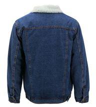 Men's Classic Button Up Sherpa Fleece Lined Cotton Denim Trucker Jean Jacket image 9
