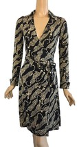 DVF Diane Von Furstenberg Jeanne Tiger Animal Print Wrap Dress 2 - $295.00