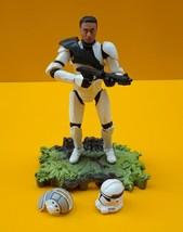 STAR WARS ™ Clone Trooper AT-TE Tank Gunner Figure 2005 Hasbro - $11.41