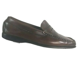 Gruppio Italiano Mens Loafers Size 9.5 M Brown Mahogany Leather Penny Lo... - $38.27