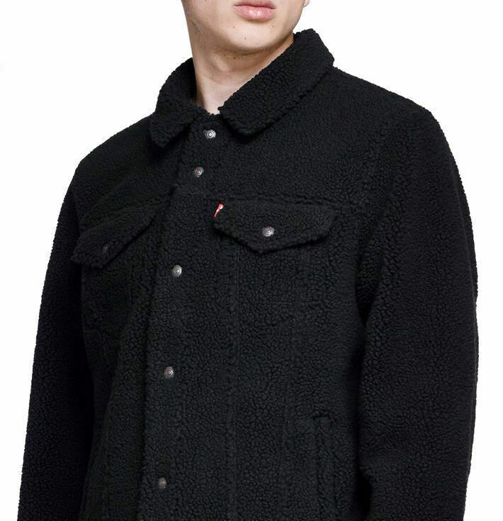 Levi S Strauss Men S Premium Snap Button Sherpa Face Trucker Jacket 577020002