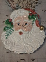 Fitz and Floyd Old Fashioned Christmas Santa Canape Cookie Holiday Servi... - $19.99