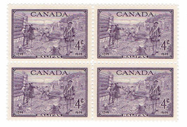 1949 Founding of Halifax Block of 4 Canada Postage Stamps Catalog Number 283 MNH