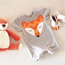 Newborn Kids Baby Infant Boy Girl Fox Bodysuit Romper Jumpsuit Outfits C... - $14.40