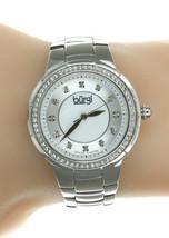 Women's Burgi BUR093SS Swiss Diamond Dial Stainless Steel Watch - $48.98