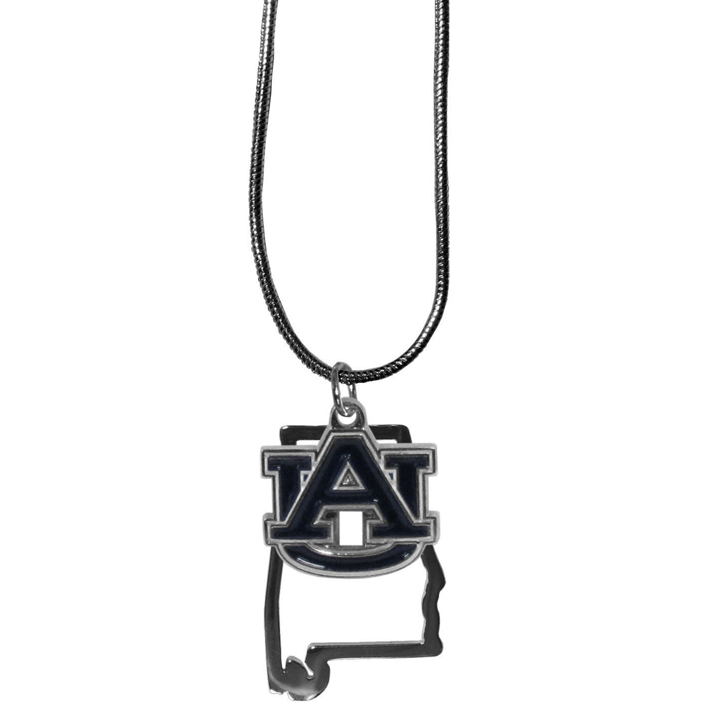"auburn tigers state charm necklace with 18"" chain"