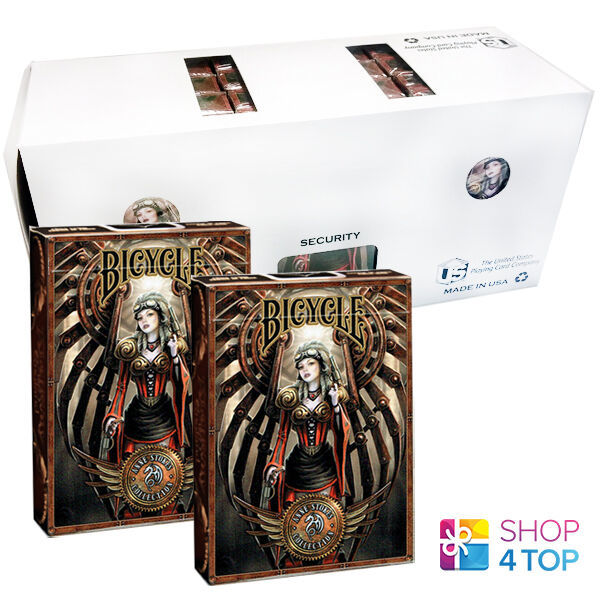 12 DECKS BICYCLE ANNE STOKES STEAMPUNK PLAYING CARDS FANTASY ART SEALED BOX CASE - $61.96