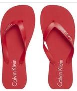 calvin klein flip flops NEW RED - $24.45
