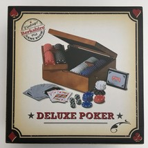 Berkshire Deluxe Poker Game Wooden Case 200 8.0 Gram Weighted Poker Chips - $31.67