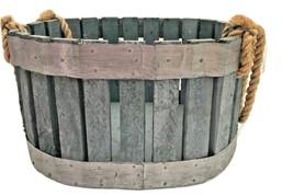 Urban Farmhouse Repurposed Bent Wood Shabby Chic Basket Rope Handle Man ... - $49.95