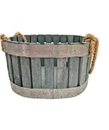 Urban Farmhouse Repurposed Bent Wood Shabby Chic Basket Rope Handle Man ... - $49.95