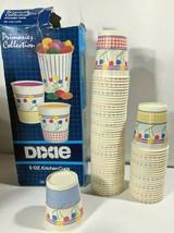 Vintage Dixie Cups 1989 5oz Primaries Dispenser Advertisement on Box 73 ... - $14.97