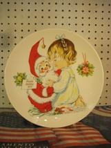 Santa & Child Charlot Byj 1974 Goebel Christmas Decorative Collector Plate - $8.78