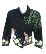Vintage Anage Women's Golf Ball Theme Embroidered Stitched Jacket Size S... - $33.69