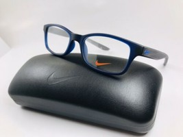 New KIDS NIKE 5005 400 Matte Midnight Blue & Grey Eyeglasses 49mm with N... - $59.35