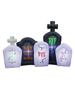 Occasions Inflatable Flashing Lights Tombstone Scene Halloween Decoration - $79.15