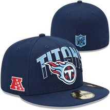 New Era 59Fifty Tennessee Titans On The Field Football Hat Cap Sz 6 3/4 - £14.46 GBP