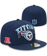 New Era 59Fifty Tennessee Titans On The Field Football Hat Cap Sz 6 3/4 - £16.05 GBP