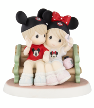 Disney Parks Mouseketeers on Park Bench Figure by Precious Moments New i... - $116.38