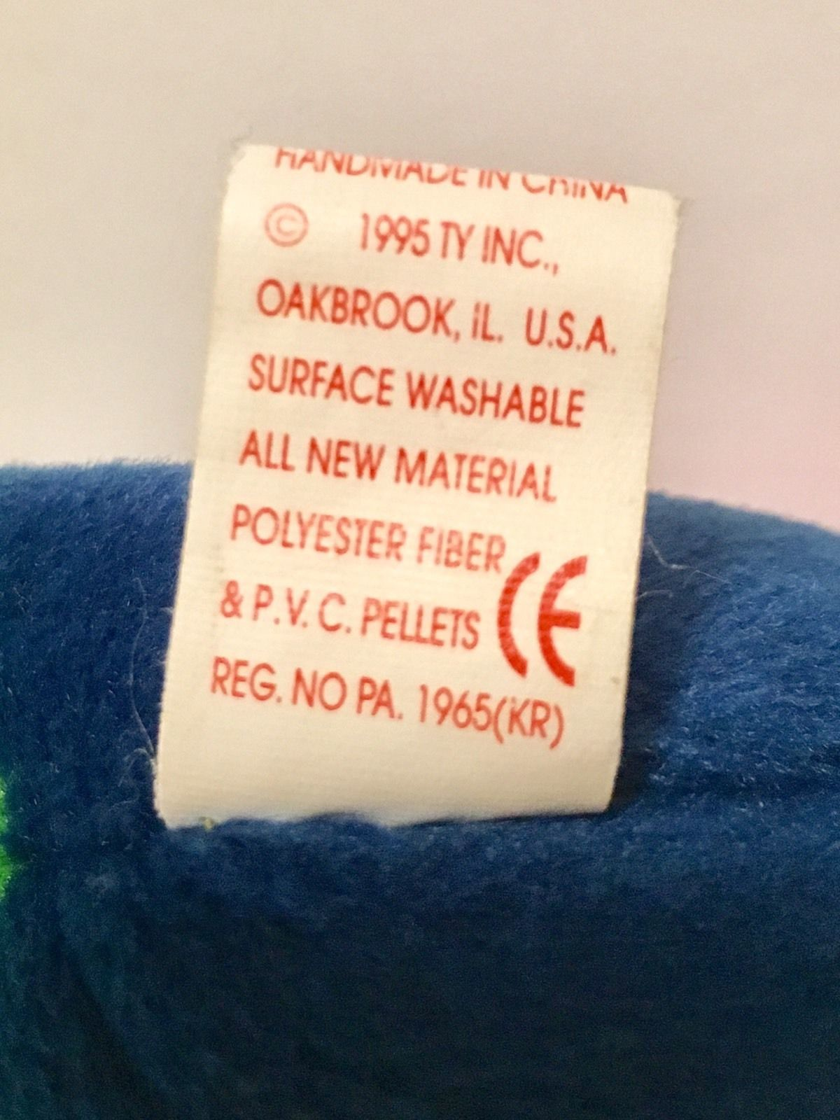 Ty Beanie Babies Plush Beanbag Inch the Worm Yellow Orange Green Blue Purple