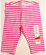 Jumping Beans Toddler Girls Pink White Striped Pedal Pusher Leggings Pants - $9.99