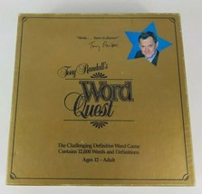 Tony Randalls Word Quest Board Game 1984 Word Quest USA - $8.59