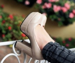 83H034 elegant thick heels pump in candy color,US Size 4-8.5, apricot - $38.80