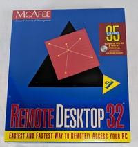 McAfee Windows 95 Year 1996 Remote Desktop 32 V2.0 Software RDT-DRCT-NA-210 - $93.38