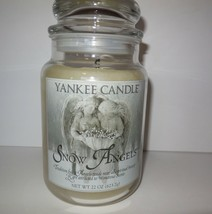 Yankee Candle SNOW ANGELS 22 oz Glass Jar Retired Fragrance Lit Once Only - $75.00