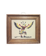 Vintage Small Sand Painting Eagle Dance Ceremony American Southwest - $31.92