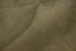43'' Wide Handworked Fabric Thick Canvas Fabric Army Green (17.5 43 Inches)