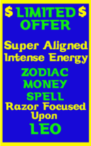 Money Spell Highly Charged Spell For Leo Millionaire Magic for Luck Money - $47.00