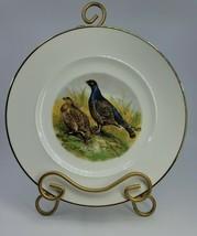 """Vintage JWK Rosenthal Porcelain West Germany Pheasants 9.75"""" Gold Rimmed Plate - $49.99"""