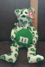 TY Beanie Baby - GREEN the M&M's Bear (Walgreens Exclusive) (8.5 inch) - MWMTs - $8.99