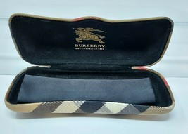 Burberry Check Eyeglasses Sunglasses Clamshell Glasses Case With Cloth - $6.01