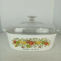Corningware *VINTAGE 1970 Spice Of Life 4 Qt Casserole Dish With Matching Lid - $34.65