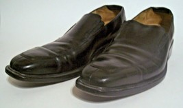 Cole Haan Mens Loafers Size 9 1/2 M Black Leather Slip On Shoes NikeAir Heel - $53.06