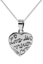 AeraVida Love Is Forever Scribble Heart Tag .925 Sterling Silver Pendant - $57.91